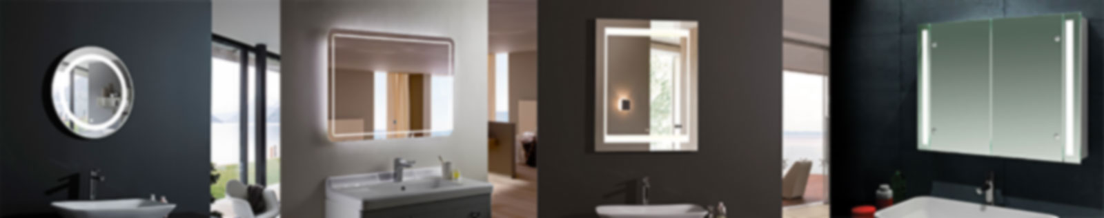 Led bathroom mirror illuminated mirror cabinet Bathroom cabinet manufacturers
