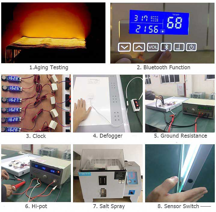 Led bathroom mirror manufacturers testing led bathroom for Mirror manufacturers