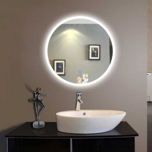 Led Vanity Bathroom Mirrors Cabinets Illuminated Backlit Rectangle Frameless Wall Mirror On Lighted