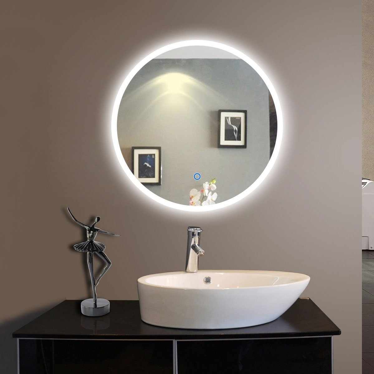 Lighted Vanity Mirror Cabinet : LED-vanity-bathroom-mirrors-bathroom-vanity-cabinets-illuminated-backlit-rectangle-frameless ...