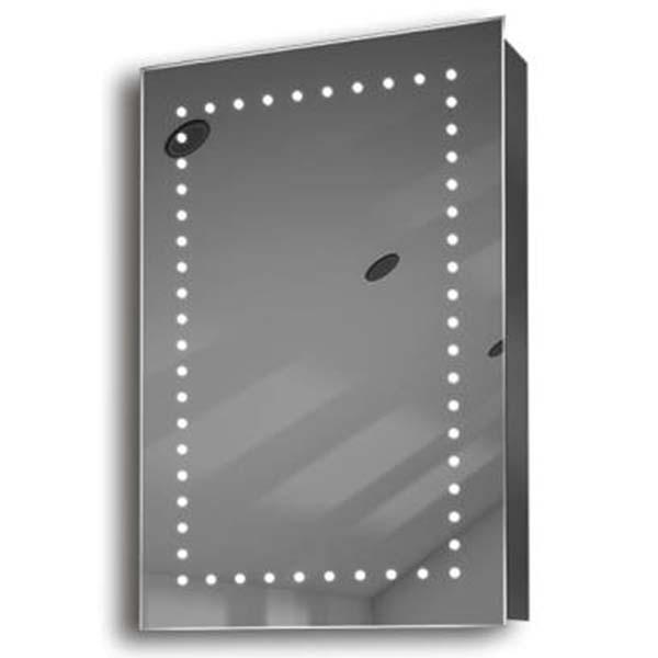 Illuminated mirror cabinet fac 05 60x40x14 led bathroom for Mirror 40 x 60