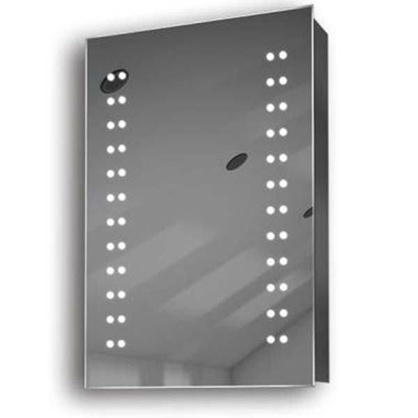 Illuminated mirror cabinet fac 09 60x40x14 50x70x14 led for Mirror 50 x 70