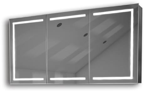 Illuminated mirror cabinet fac 28 60x120x14 led bathroom for Miroir 60 x 120