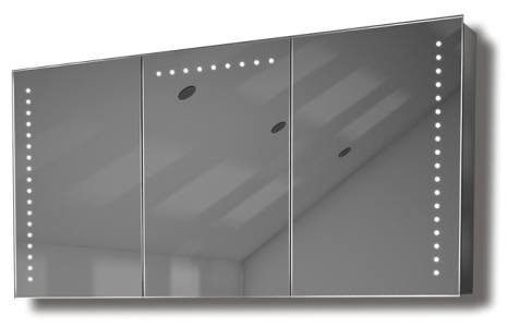 Illuminated mirror cabinet fac 32 60x120x14 led bathroom for Miroir 60 x 120