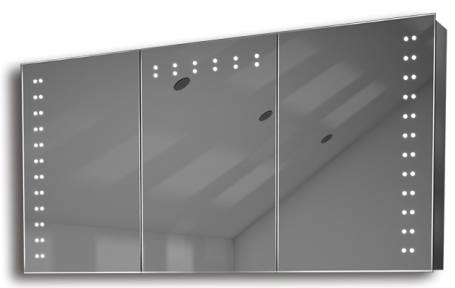 Illuminated mirror cabinet fac 33 60x120x14 led bathroom for Mirror 120 x 60