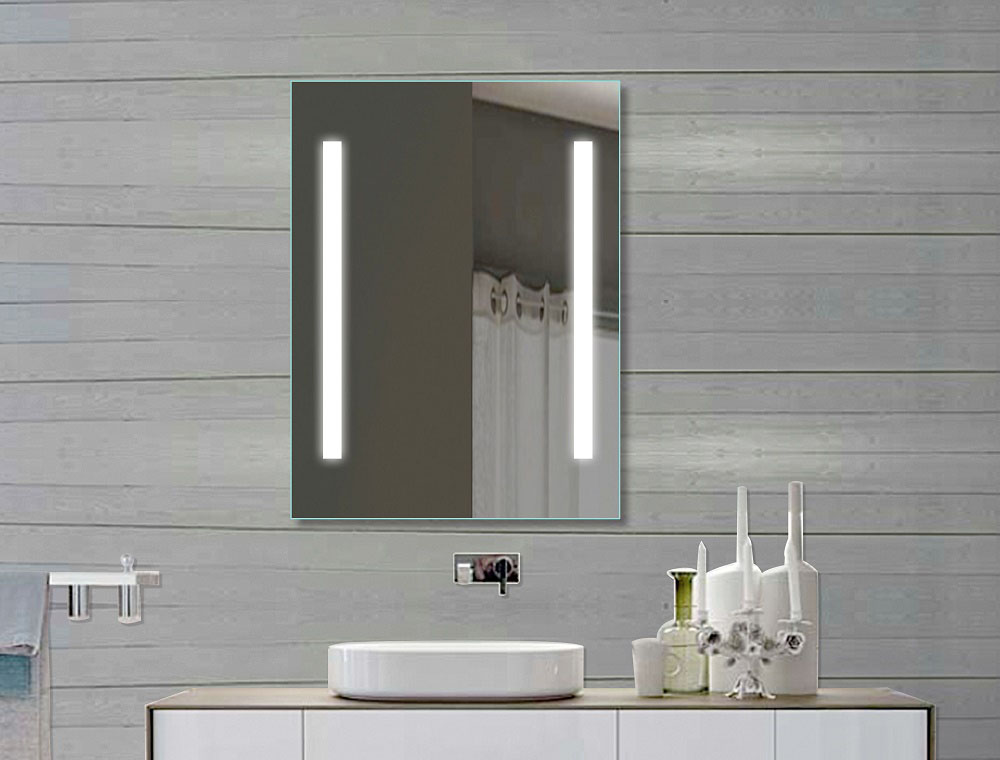 How to light your bathroom right led bathroom mirror for Nice bathroom mirrors