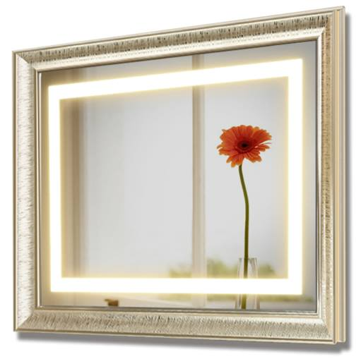 Wall Hung Ip44 Rated Led Light Bathroom Mirror Frames