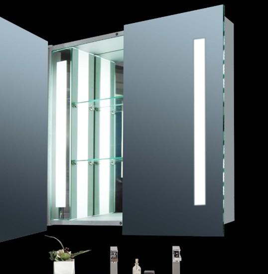Led illuminated mirror medicine cabinet manufacturers for Mirror manufacturers