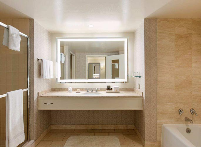 Marriott Hotel Lighted Bathroom Mirrors Led Bathroom