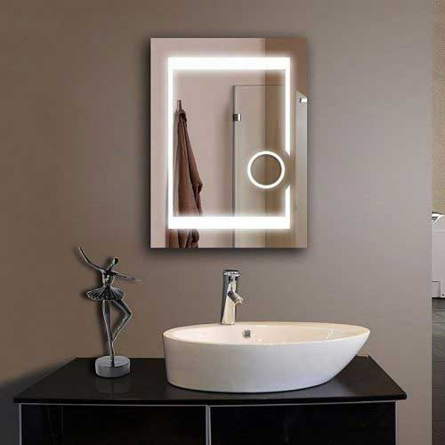 illuminated bathroom mirror cabinet led bathroom mirror manufacturers amp supplier china dimo 18859